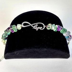 "Piece #353 ""Full of Hope"" Fluorite Bracelet"